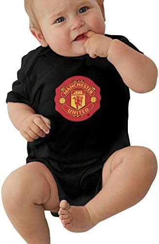 LIDGRHJTHTGRSS Manch Ester Uni ted Baby Jersey Creeper Bodysuit Printed Onesies Black for 0 product image