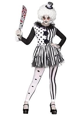 Fun World Killer Clown Lady Adult Costume-