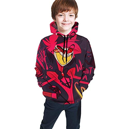 Children's Cool Hoodie Suitable For Boys and Girls Aged 7-20 Years Old Sweatshirt Pullover Haz-Bin...