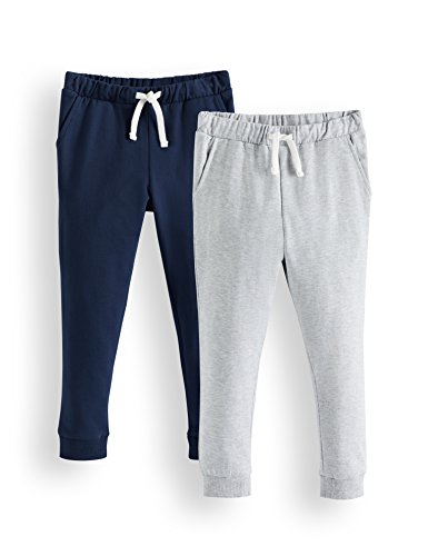 Amazon-Marke: RED WAGON Jungen Hose Jogger 2er pack, Mehrfarbig (Navy/Grey), 122, Label:7 Years