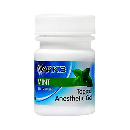 Mark3 Dental Oral Topical Anesthetic Gel 1 Oz - Mint (20% Benzocaine)