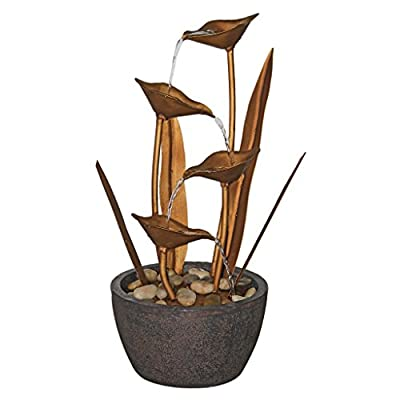 Copper Botanical Garden Decor Outdoor Water Feature