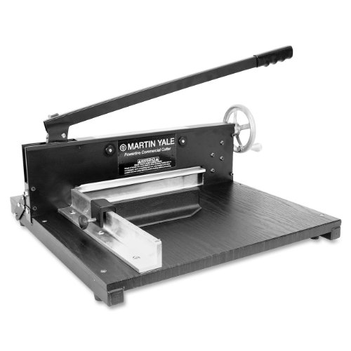 "Martin Yale 7000E Paper Cutter, Commercial 200-Sheet Stack, 12"" Cutting Length, 1 1/2"" Thickness Capacity"