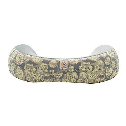 Ergobaby Capa de Almofada de Lactação Natural Curve Remoinhos Amarela/castanha Amarelo /