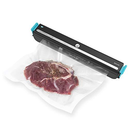 Cecotec Envasadora al vacío FoodCare SealVac 600 Easy. Sistema de envasado rápido en 10 Segundos,...