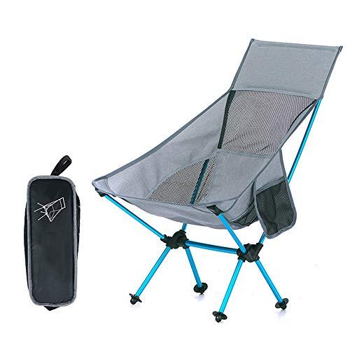 LCTZDY Klappstuhl aus leichtem Stahl-Campingdirektor mit Einkaufstasche und Kühltasche (Farbe : Gray)