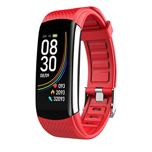 Luckywing Smartwatch Pulsera de Actividad con Monitor de Temperatura Corporal Pantalla Pulsómetro Mujer Hombre Monitor Impermeable Pulsera Inteligente Adultos Unisex con iOS y Android