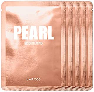 LAPCOS Pearl Sheet Mask, Daily Face Mask 5-Pack