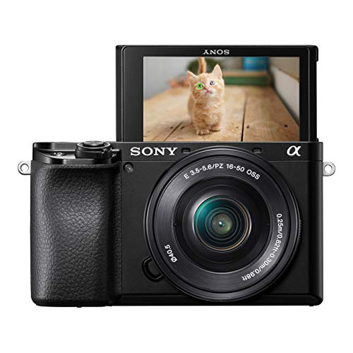 Sony Alpha 6100 Fotocamera Digitale Mirrorless con Obiettivo Intercambiabile SELP 16-50mm, Sensore APS-C, Real Time Eye AF e Real Time Tracking e Autofocus, ILCE6100B + SELP1650, Nero