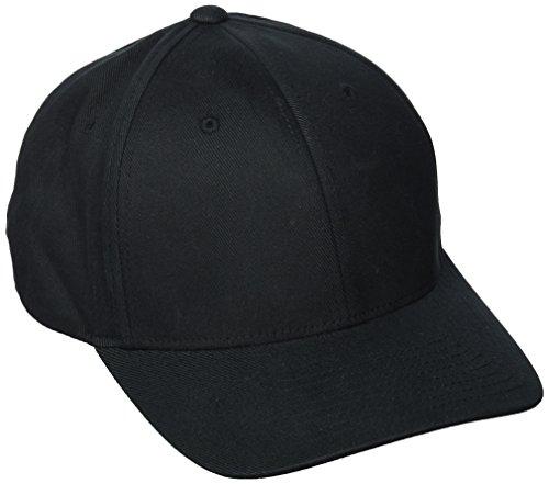 Flexfit ® Fullcap 6 Panel Baseballcap mit geschlossener Rueckseite und Elasthananteil in 13 Farben und 2 Groessen Schwarz, L/XL