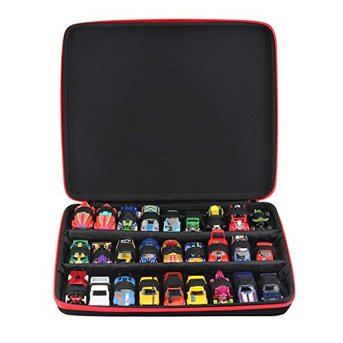 Cpano Hard Storage Carrying Case for Hot Wheels 27 Cars Gift Pack(Box Only) (Black)