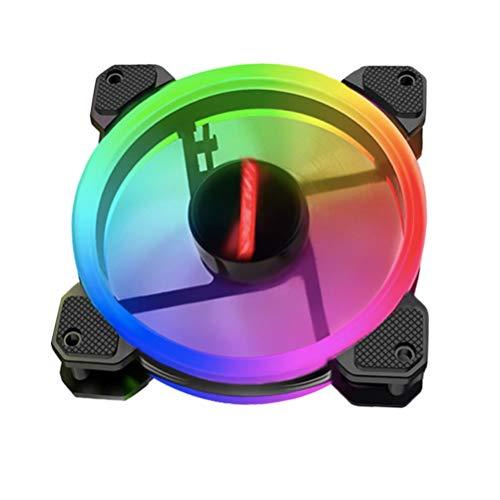 GARNECK 2 Ventiladores RGB LED Ventiladores de Bajo Ruido Ventilador de Refrigeración Ventiladores de Ordenador de Bajo Ruido LED Carcasa de Ventilador para Juegos de Ordenador