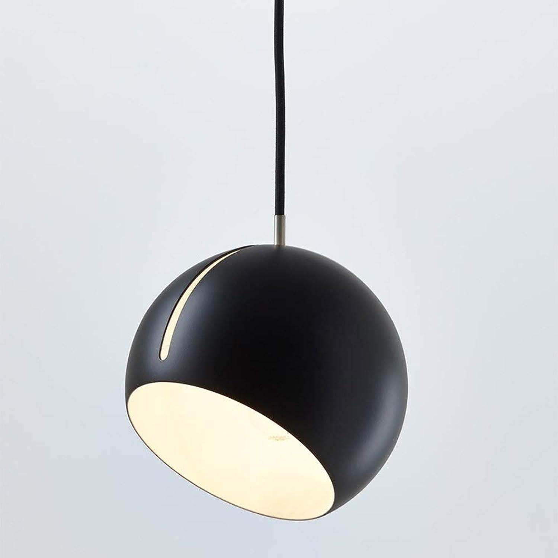 CHANDELIER Persnlichkeit Ball Kronleuchter Moderne Einfache Single Head Ball Bar Schlafzimmer Nacht Restaurant Kronleuchter schwarz