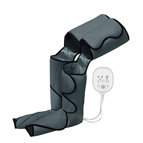 PYXZQW Masajeador de piernas, Masaje de presión de Aire, Masajeador de piernas y pies, Equipo de presoterapia portátil, Dispositivo de compresión secuencial para la circulación,Negro