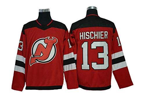 maglia hockey Aitry Felpa da Uomo # 13 Devil Hockey Jersey Nico Hischier New Jersey