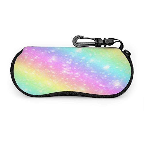 Eyeglasses Case Galaxy Fantasy Pastel Marble Pink Spectacle Case Box Scratch-resisted Portable Travel Sunglasses Holder Clamshell