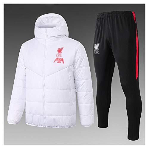 caijj Neue Herren Fußballuniform Geschenk Baumwolle Kleidung Fußball kältesicher Fußballfan kältesicher Anzug Fußball Hoodie männlich-B2-XL