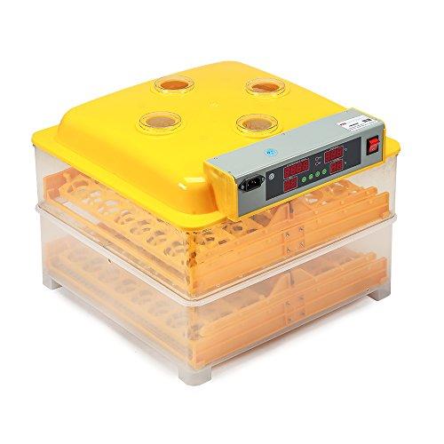 Melko Inkubator Vollautomatisch 96 Eier Brutkasten Brutmaschine Geflügel Motorbrüter Brutautomat Hühner