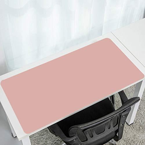 Multifuncional Estera De Escritorio,Doble Cara Muy Grande Office Desk Pad No-resbalón,Sostenible Impermeable Alfombrilla Raton Para El Trabajo En La Oficina Casa Decoración-Rosa 1000x500mm