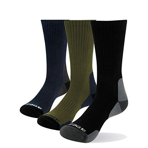 YUEDGE 3 paar Wandersocken Trekkingsocken für Herren Atmungsaktiv Sportsocken Hochleistung, Olivgrün/Blau/Schwarz, L (Herren Schuh 38,5-43,5 EU Größe)