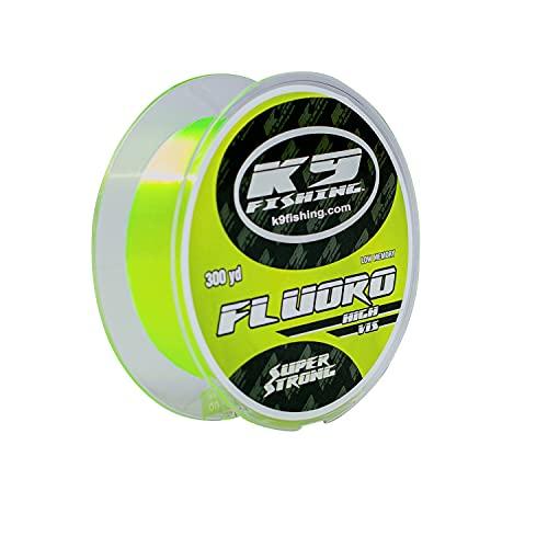 K9 300-17lb-HV Hi-Vis Yellow Fluoro Line 300 Yard Spool 17lb Test
