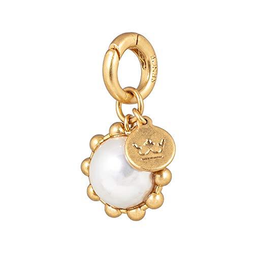 SENCE Copenhagen G704 - Colgante para mujer con perlas (chapado en oro, 1,8 cm)