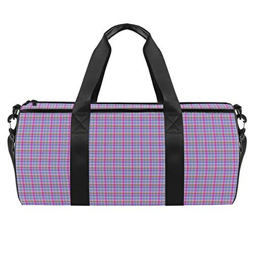 KAIXINJIUHAO 18' Duffle Bag for Travel Gym Sports Lightweight Luggage Duffel ,Purple Plaid