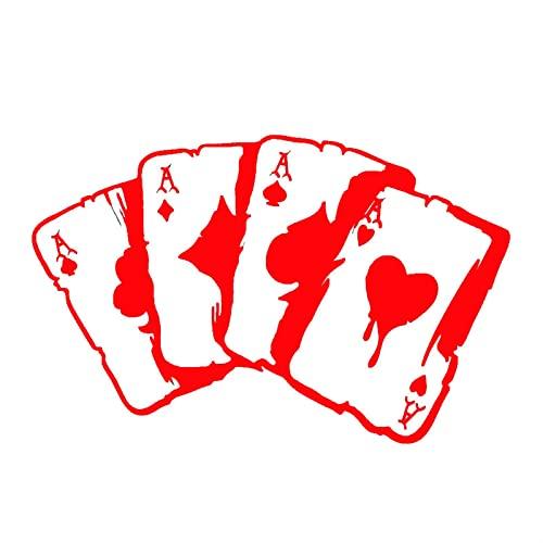 LNSGA Adesivi per Auto Funny Poker Graphic Decalcomanie in Vinile 3D Autoadesivo in Vinile su Auto Riflettente Motorcycle Decal Styling 15.3 * 9.9 cm (Color Name : Red, Size : 2pcs)