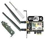 Ubit WiFi 6 3000mbps Scheda di Rete Wireless Wi-Fi con Bluetooth 5.0, Wireless...