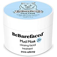 BeBarefacedMascarilla de lodo del Mar Muerto – Tratamiento facial antienvejecimiento para los puntos negros y el acné para todo tipo de pieles con ácido salicílico (BHA), extracto de corteza de sauce