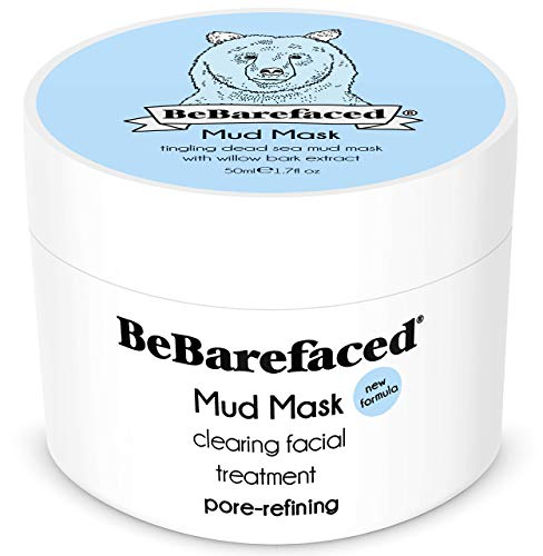 BeBarefaced | Face Mask | Mud Mask | With Dead Sea Minerals And Salicylic Acid | Blackhead And Acne Treatment | Refine Pores, Exfoliate And Brighten | Vegan Beauty Products | 50 ml