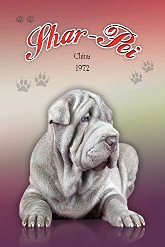 FS Schar Pei China 1972 hond metalen bord gebogen metalen teken 20 x 30 cm