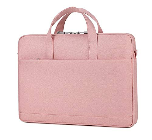 """Cicilin Bolsa para laptop 13 14 15,6 polegadas bolsa mensageiro com alça de ombro, Macio, rosa, 13"""""""