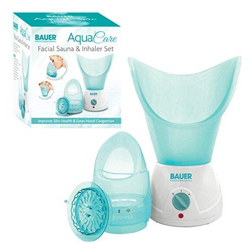 Bauer Professional Aqua Pflege Gesichts- Sauna und Inhalator Set, Gesichts- Dampf, Reiniger für Weicher Haut und Mitesserentferner