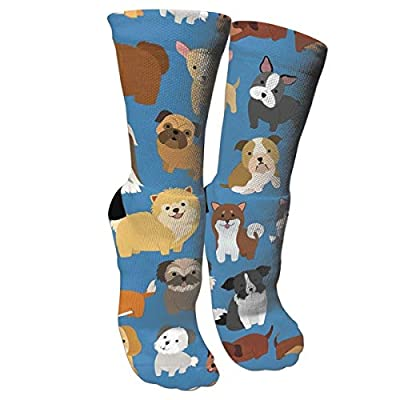Cute Funny Pug Funny Athletic Socks,Cotton Casual Running Sport Hockey Cushioned Crew Socks for Men & Women Gifts