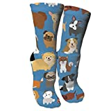 Animal Dogs Funny Athletic Socks,Cotton Casual Running Sport Hockey Cushioned Crew Socks for Men & Women Gifts