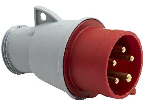 Brennenstuhl contactdoos elektrisch 380 V 3 fasen 5 spindels, rood, 1323151