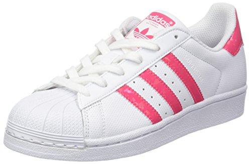 adidas Superstar Gymnastikschuhe, Elfenbein (FTWR White/real Pink S18/ftwr White), 36 EU