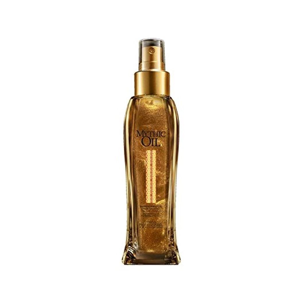 瞳勇気日光L'Oreal Professionnel Mythic Oil Shimmering Oil (100ml) (Pack of 6) - ロレアルプロフェッショナルの神話油きらめくオイル(100ミリリットル) x6 [並行輸入品]