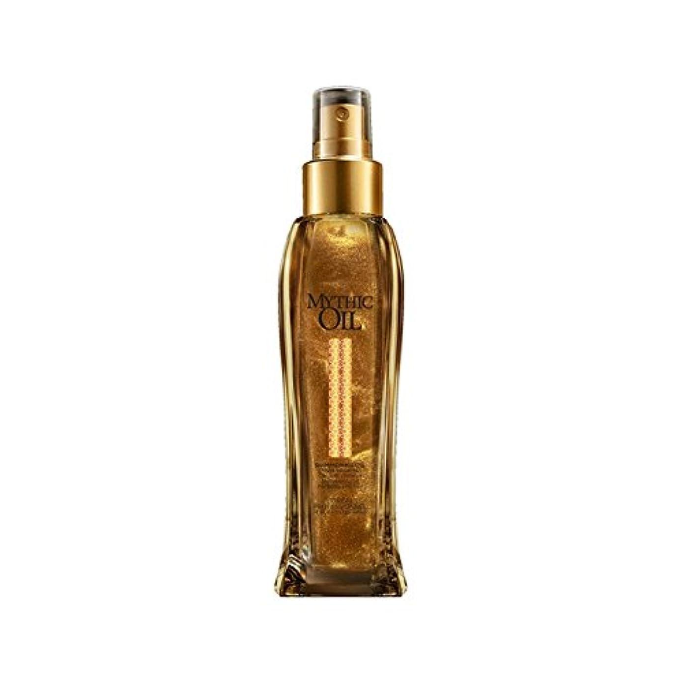 構成員義務付けられた土砂降りロレアルプロフェッショナルの神話油きらめくオイル(100ミリリットル) x2 - L'Oreal Professionnel Mythic Oil Shimmering Oil (100ml) (Pack of 2) [並行輸入品]
