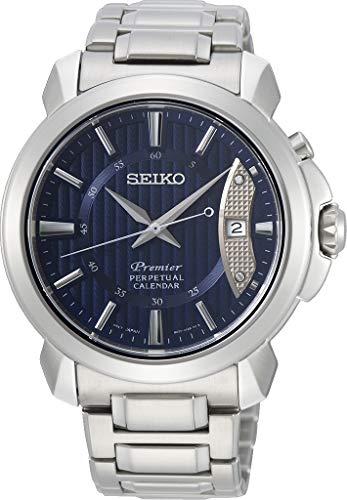 Seiko Premier SNQ157 - Reloj de cuarzo con esfera azul para hombre