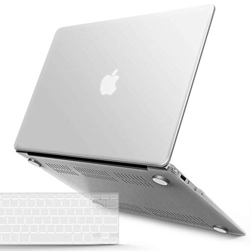 IBENZER Old Version (2010-2017 Release) MacBook Air 13 Inch Case (Models: A1466 / A1369), Plastic Hard Shell Case with Keyboard Cover for Apple Mac Air 13, Clear, A13CL+1