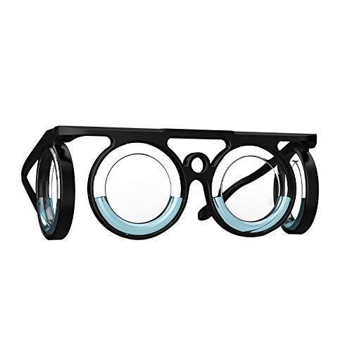UTDKLPBXAQ Gafas Anti-Movimiento, Gafas portátiles ultraligeras para aliviar Las náuseas, Gafas elevadas contra el mareo para Viajes Deportivos, Gafas líquidas sin Lentes para Adultos o niños