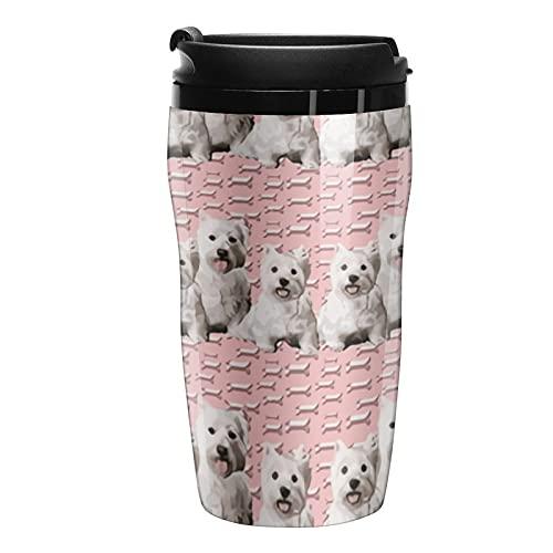 Botella de agua Westy Terriers and Huesos Tazas de café de viaje con tapa
