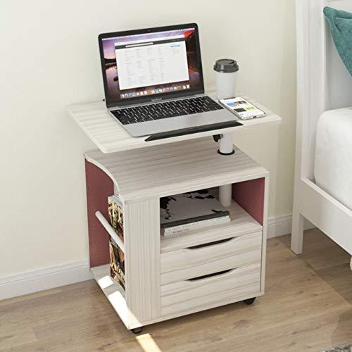 soges Betttisch Laptoptisch Sofatisch aus Holzwerkstoffen hochverstellbar mit drehbar Tischplatte geeignet für Bett Sofa, CT1-MP
