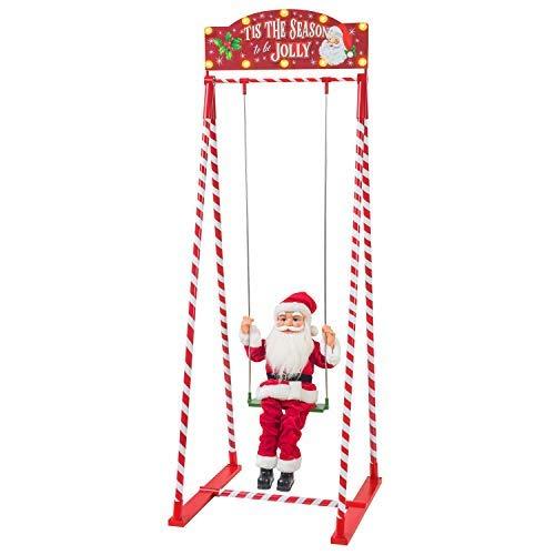 Swinging Santa Decorative Figurine - Mr. Christmas