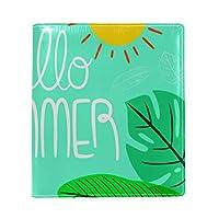 ブックカバー a5 フラミンゴ 夏 文庫 PUレザー ファイル オフィス用品 読書 文庫判 資料 日記 収納入れ 高級感 耐久性 雑貨 プレゼント 機能性 耐久性 軽量16x22cm