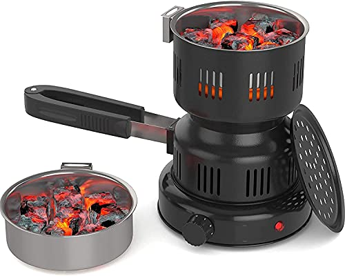 Hookah Coal Burner with 72 Pcs Coconut Charcoal for Hookah, Shisha, Nargila