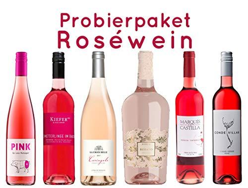 Roséwein Probierpaket | 6 x 0,75l | hochwertige Rosé-Weine