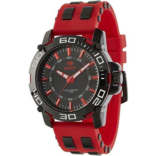 Reloj Marea Analógico para Hombre B54090/5 con Correa de Silicona Roja y Caja Negra